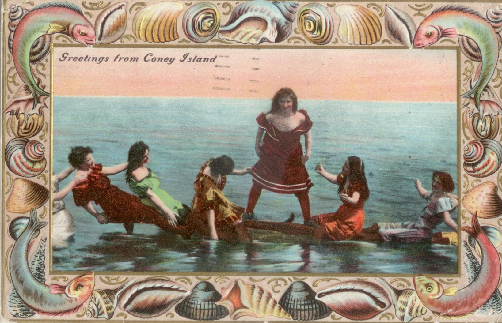 Postcard a coney island reader bathing beauties at coney island m4hsunfo